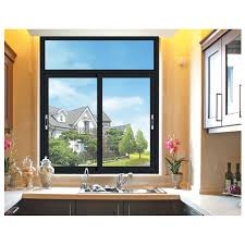 tempered glass aluminum sliding windows