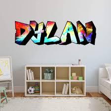 Vwaq Custom Graffiti Wall Decals Name Personalized Kids Rooms Decor