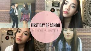 first day of 8th grade makeup outfit