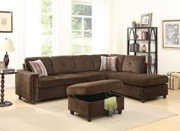 appealing brown sofa gray walls acme