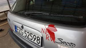 So I Just Placed A Nerv Sticker On My First Car Evangelion