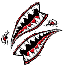 World Datong Red Black Shark Mouth Reflective Sticker Exterior Side Door Decal Car Vinyl Film Automobiles Car Styling 1 Pair Car Stickers Aliexpress
