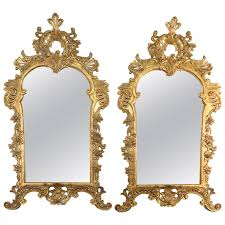 giltwood louis xv french wall mirrors