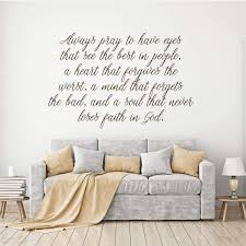Prayer Wall Decal Pray Vinyl Decor Wall Decal Customvinyldecor Com
