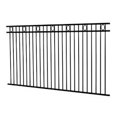 Protector Aluminium 2450 X 1200mm Custom Double Top Rail With Rings Pool Fence Panel