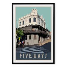 Paddington Five Ways Print Vintage Travel Style By Places We Luv Places We Luv