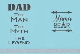Rtic Or Yeti Mug Decals Mama Bear Dad Legend Vinyl Stickers