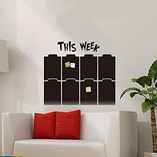 Amazon Com Home Organizer Tech Weekly Wall Planner Chalkboard Paper Vinyl Wall Sticker Decal Blackboard Home Kitchen