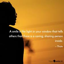 a smile is the light in y quotes writings by thuto moncho