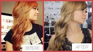 orange hair get light ash brown hair