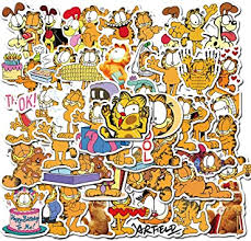 Amazon Com Garfield Laptop Stickers Decals 50 Pack For Water Bottles Skateboard Phone Car Teens Girls Cute Stickers Garfield Computers Accessories