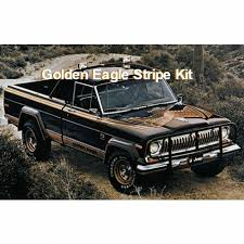 Fsj Jeep Part 7779gej10 Decal Set 1977 1979 Jeep Golden Eagle J10 Truck Gold Orange Decal Stripe Kit