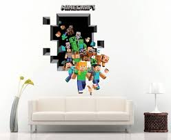 Minecraft 3d Wall Stickers Decorative Wall Decal Home Decor 6006 50x70cm Sygmall