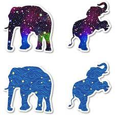 Amazon Com Elephant Galaxy And Stars Sticker Pack Elephant Stickers 4 Pack Sticker Vinyl Decal Laptop Phone Tablet Vinyl Decal Sticker 4 Pack S172525 Computers Accessories