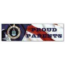 Proud Air Force Parents Bumper Stickers By Supportmilitary Air Force Mom Air Force Mom Gifts Air Force
