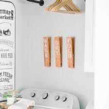 Laundry Clothespin Rustic Farmhouse Home Wall Decal Words Decor