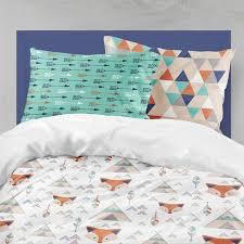 twin bedding boy fox tee toddler