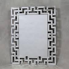 venetian greek key mirror framed