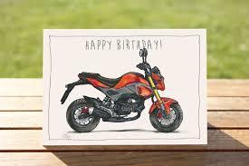 Honda Grom Motorcycle Birthday Card A6 6 X 4 103mm X