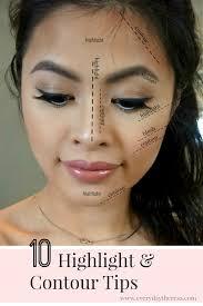10 contour highlight makeup tips