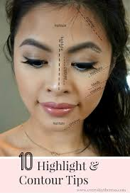 10 contour highlight makeup tips