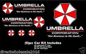 Umbrella Corporation Resident Evil Car Decal Kit 6pc Huge High Quality Hood Ebay