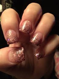 Chic Champagne Colored Faded Acrylic Nails Fall Acrylic Nails