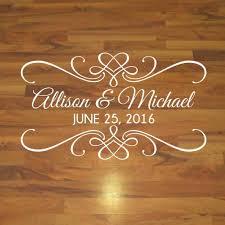 Wedding Dance Floor Decal Wedding Reception Decor Vinyl Written