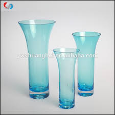 glass vases handblown glass bud blue
