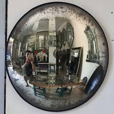 antique convex round mirror mg 050002