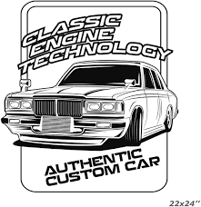 Amazon Com Anewdecals Classic Car Custom Workshop Logo Wall Sticker Decal Authentic Tuning Car Decal Vinyl Sticker Custom Color Made In Usa Home Kitchen