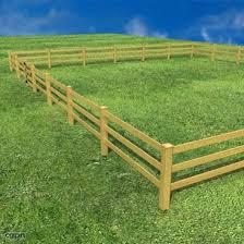 Wooden Fence 3d Model Cgstudio