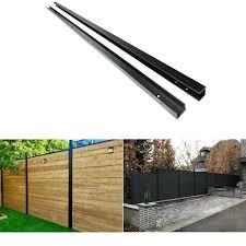 Slipfence Middle Bracket Kit Water Black Aluminum Fence Rail Tsf Mbk01 For Sale Online Ebay