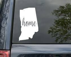 Indiana State Vinyl Decal Sticker 6 X 3 5 Home In Hoosier Minglewood Trading