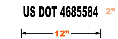 Usdot Number Sticker Decal 12x2 From 2 50 Each Free Shipping