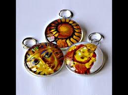 glass pendants no bezel or trays