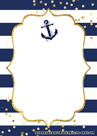 15 Free Nautical Birthday Invitation Templates En 2020