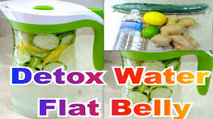 detox water infused water flat belly