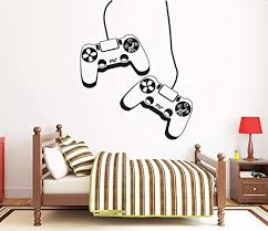 Amazon Com Gamer Wall Decal Video Games Wall Sticker Playstation Ps4 Controller Wall Decal Gaming Room Wall Art 1732re Home Kitchen