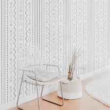 Bohemian Tribal Print Wallpaper For Baby Room Interior By Livettes