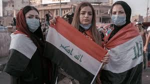 النساء يتصدرن المشهد في مظاهرات العراق فايس