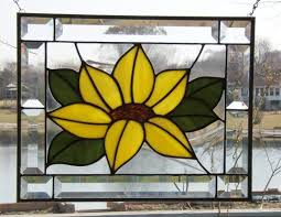 beveled stained glass panel window