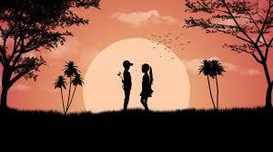 boy love cute sunset wallpapers