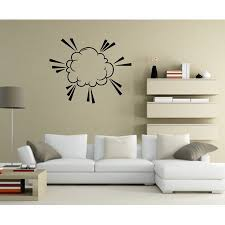 Comic Cloud Wall Decal Vinyl Decal Car Decal Idcolor072 25 Inches Walmart Com