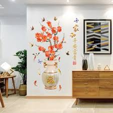 Chinese Style Vase Plum Blossom Wall Sticker Home Office Booking Room Decoration Wallpaper Poster Art Window Glass Cabinet Wall Graphic Decal Wall Decor Decal Wall Murals From Magicforwall 14 97 Dhgate Com