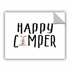 Harriet Bee Cedric Happy Camper Ii Removable Wall Decal Wayfair