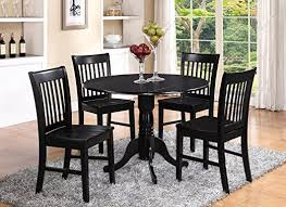 Amazon Com 5 Pc Small Kitchen Table And Chairs Set Round Kitchen Table And 4 Dinette Chairs Table Chair Sets