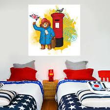 Paddington Bear Wall Mural London 009 Art Sticker Kids Bedroom Decal Nursery Ebay