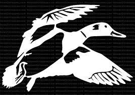 Flying Mallard Waterfowl Hunting Window Decal