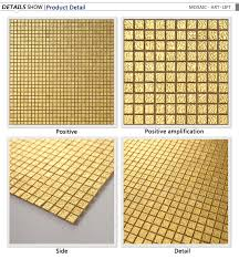 small chip gold mosaic wave texture